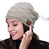 EasyULT Gorro Deportivo con Bluetooth Auriculares, Gorro Bluetooth 5.0 Music Recargable para Deportes al Aire Libre, Hombre Mujer Beanie Hat Sombrero Lavable para Correr(Gris Claro)