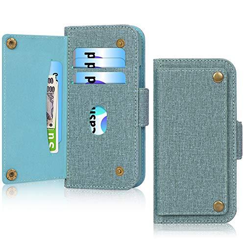 iPhone 12 ケース iPhone 12 Pro ケース 手帳型 6.1インチ [抗菌] WWW 5G 高級PUレザー Qi ワイヤレス充電対応 財布型 カード収納 サイドマグネット スタンド機能 アイフォン12 ケース アイフォン12プロケース スマートフォン用手帳型ケース グリーン