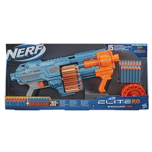 Nerf Elite 2.0 Shockwave RD-15 et Flechettes Nerf Elite 2.0