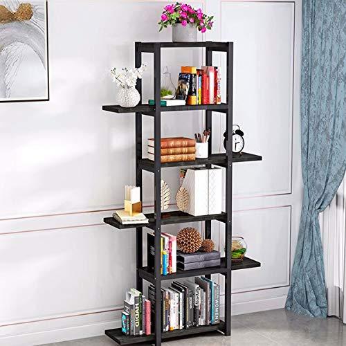 YQQJK smeedijzer meerlagig rack bloempot Display standaard, 6-laags vloer staande sjabloon compartiment opslag plank bloem standaard, eenvoudige plant opslag planken