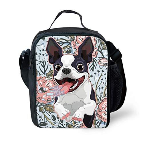 Showudesigns Animal Fleur Sac à déjeuner isotherme Lunch Box pour enfants garçons filles S Dog 1
