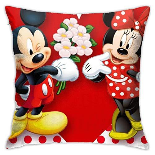 LUCKY Home Love Minnie - Funda de cojín cuadrada decorativa para sofá, coche, dormitorio, sala de estar, 45,7 x 45,7 cm