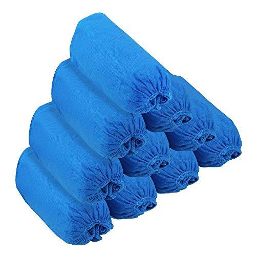 JTDEAL [100 Stück] Einweg-Überschuhe, JTDEALVliesstoff Überzieher Schuhe, Schuhüberzieher, Elastic Schuhschutz für Zuhause Krankenhause, Garten,Fabrik