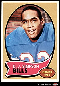 1970 Topps # 90 O.J. Simpson Buffalo Bills (Football Card) Dean's Cards 4 - VG/EX Bills