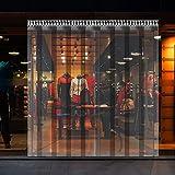 VEVOR Cortina Puerta PVC Transparente Impermeable 3x2,75 m 19 Tiras Total, Material Impermeable Transparente PVC, Cortina Puerta PVC Ancho Total 3 m para Supermercados, Tiendas, Casas, Fábricas etc
