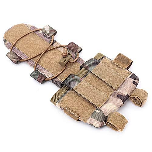 huaruoshui Taktischer Helmakku-Gegengewicht-Tasche für Airsoft-Helm, Balanciergewicht, Universal-Helmtasche für NVG-Batterie-Zubehör (CP)