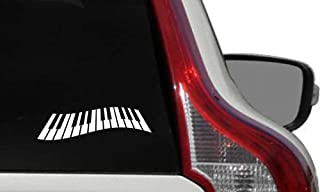 Piano Keyboard Version 1 Car Vinyl Sticker Decal Bumper Stic