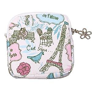 Bluelans Zipper Coin Purse Women Girl Cute Sanitary Pad Organizer Holder Napkin Towel Convenience Bags