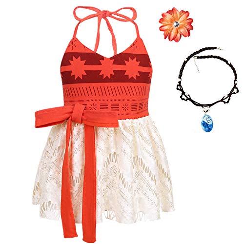 Lovely Mermaid Baby Girls Princess Dress Costume Onesie Romper Bodysuit Halloween Christmas Dress Up (E66,9-12 Months)