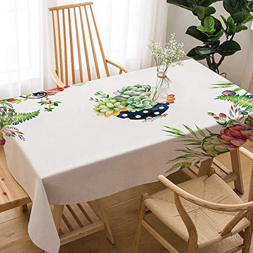 WSJIABIN Mantel Simple y Moderno Paño de Lino y algodón Mantel Rectangular Cubierta para Silla Reutilizable Mantel Multiusos Adecuado para Interiores y Exteriores (140X180cm