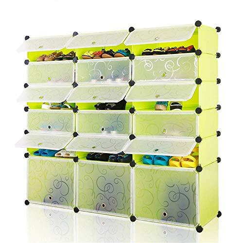 Decoración de muebles Gabinete de zapatos plegable Caja de zapatos Almacenamiento de artículos para el hogar Estante de zapatos Aumento de bricolaje Armario de zapatos de arranque simple Gabinete d