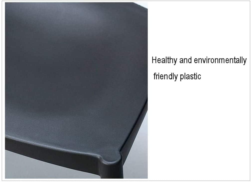 Chaise Horn Chaise de Salle à Manger en Bois Massif Minimaliste Moderne Multicolore en Option (Taille: 52X45X76cm) (Couleur: Rouge foncé) 1