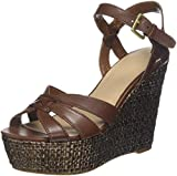 Guess Guliver/Zeppa (Wedge)/Leather, Scarpe col Tacco con Plateau Donna, Marrone (Light Brown), 39 EU