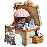 WGZ- ミュージックボックス猫の宝石箱オルゴールの誕生日プレゼント樹脂のオルゴールのクリスマスプレゼント 甘くて楽しい