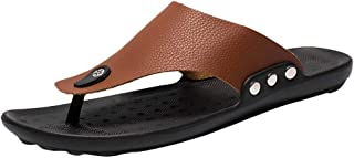 Canserin Men's Classic Flip Flop Sandal Casual Lightweight Beach Shoe T-Strap Open Toe Slipper