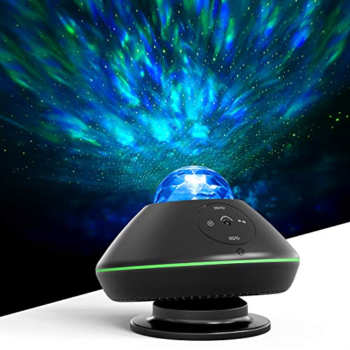 Star Projector, MiiKARE 2 in 1 Night Light Projector Adjustable Lightness Starry Light and LED Nebula Cloud with Remote Control & Built-in Music Player for Kids Bedroom Living Room Home Theater