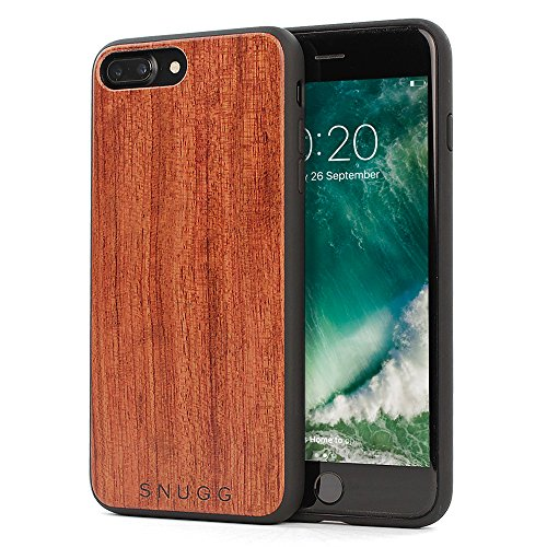 Cover iPhone 7 Plus and 8 Plus, Snugg Apple iPhone 7 Plus and 8 Plus Custodia Case [Vero Legno] TPU Ultra-Slim Protettiva Pelle - Palissandro