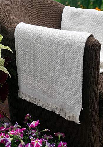 Manta Decorativa para Sofá Munique 1,20 x 1,50 Cru 100% Algodão