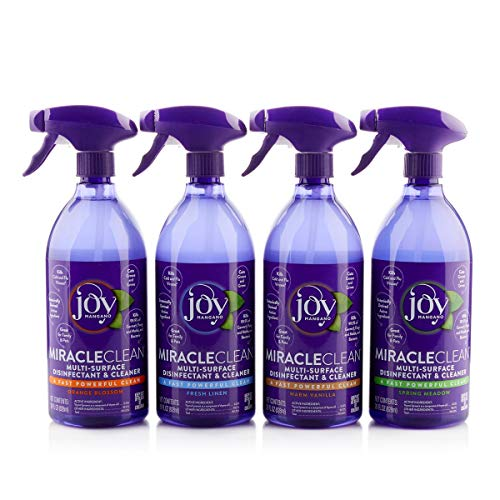 Joy Miracle Clean 2 (28) OZ Fast & Powerful Disinfect & Clean Set (Vanilla)