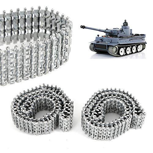 SHIOUCY Functional 2Stk Metallketten Metallkette Für Heng Long Taigen Tiger 1/16 Panzer