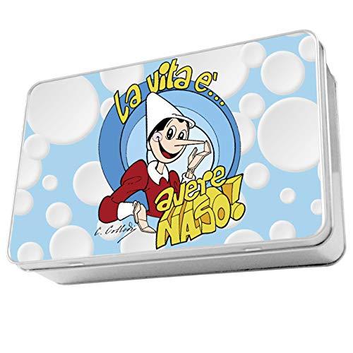My Custom Style Scatola Rettangolare in Latta #Pinocchio-Avere Naso# 19,5x12,5 h5