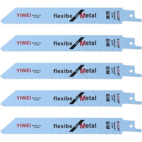 """A0127 5 hojas de sierra de vaivén flexibles de 151 mm 6\""""BIM S922AF para madera y metal"""