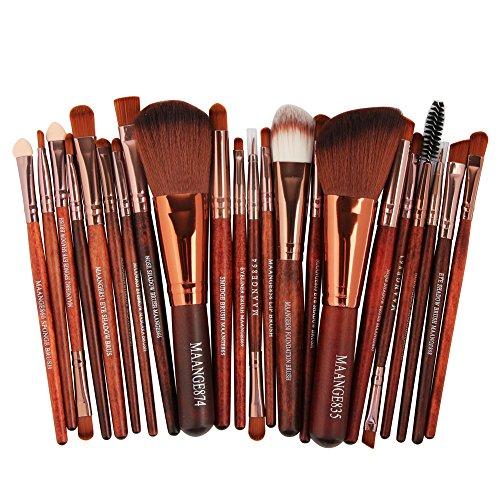 Katpost 22 pcs/Set de Pinceaux de Maquillage Pinceaux Maquillages Professionnels Kit Pinceau Fond de Teint Ombre à Paupières Eyeliner Yeux Visage Poudre Cosmétiques Brosse