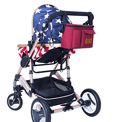 Luiertas luier rugzak luiertas waterdichte multi-functie veranderen tas kinderwagen tas voor baby zorg voor wandelwagen organisator Rood
