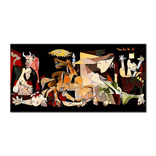 Print Painting Picasso Guernica Replica Vintage Classic Figure Canvas Art Poster Wall Modular Picture For Living Room Home Decoration