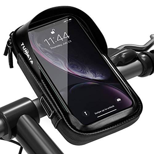 """TURATA Wasserdicht Fahrrad Handyhalterung Fahrradlenkertasche Handyhalterung Fahrradtasche Rahmentaschen Multifunktional Motorrad für 6\"""" Handy, Personalausweis, Bankkarte, Kopfhörer"""