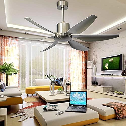 JKUNYU Ventilador de techo Ventaje de 66 pulgadas Ventilador de techo con luces Ventiladores de control remoto Conversión de frecuencia DC Motor Silent Six Blades DropshipSipng (Blade Color : 4)