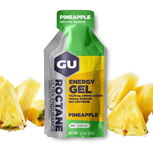 GU Energy Gel Energizante de Piña - Paquete de 24 x 32 gr - Total: 768 gr
