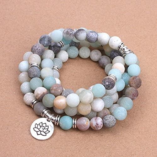Beads helados Lotus Yoga Pulsera Collar Natural Shoushan Pulsera Pulsera Pequeña Pulsera Fresca Regalo Hombres y mujeres Joyería