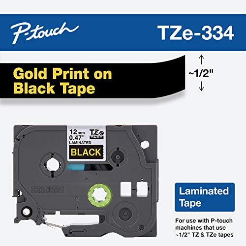 Brother Genuine P-touch TZE-334 Tape, 1/2