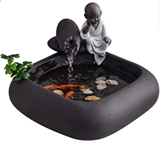 Indoor Decoration Small Sami Indoor Fountain Ceramics Creative Chinese Style Fountain Waterfall Office Living Room Decorat...