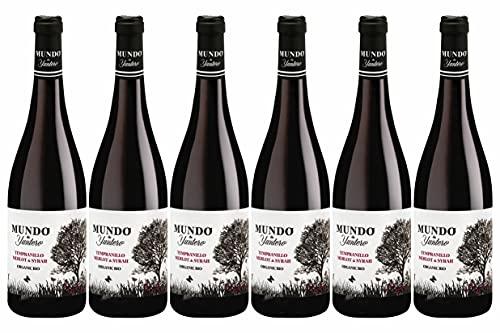 Weinpaket «Mundo de Yuntero tinto 2020», spanischer Tempranillo-Rotwein trocken, Biowein von DELINAT (6 x 0,75 l)