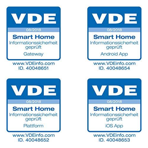SMART HOME by hornbach Starter Set Sicherheit Gateway, Fibaro Tür-Fensterkontakt, Fibaro Rauchmelder, Fibaro Wassermelder - 7