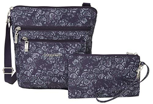 Baggallini womens Pocket Crossbody Travel Bag Purple Size: One Size