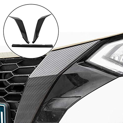 YJSZJY Car Grille, for Sentra Bluebird Sylphy Almera 2020 2021 Carbon Radiator Grill Grills Cover Trim Head Grills Stripes