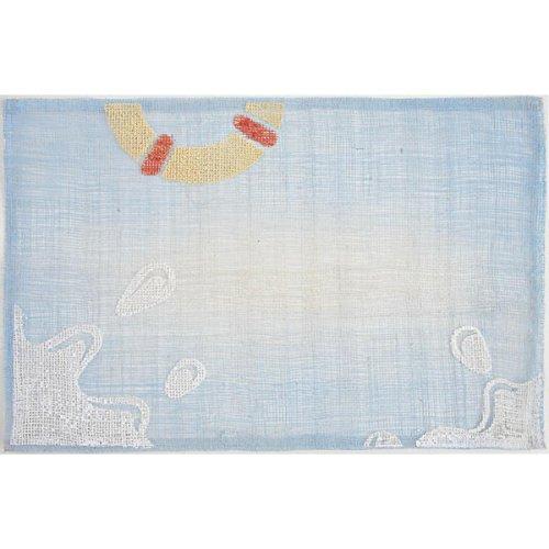PEGANE Lot de 6 Sets de Table en Sinamay Coloris Bleu - Dim : 45 x 30 cm