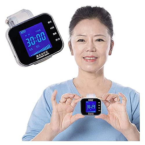 Mrxfn Reloj de Pulsera de Terapia con Láser,Instrumento de Tratamiento con Láser Semiconductor,Fisioterapia de Congestión Nasal,Reducir La Hipertensión Hiperglycemia Equipo de Terapia Vascular
