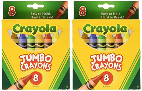 Crayons Jumbo 8ct Peggable Tuck Box [Set of 2]