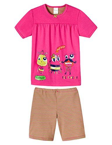 Schiesser Mädchen Md kurz Zweiteiliger Schlafanzug, Rot (pink 504), (Herstellergröße: 104)