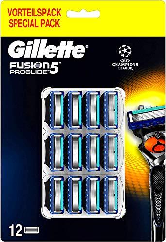 Gillette Fusion 5 ProGlide Rasierklingen mit Trimmerklinge für Präzision und Gleitbeschichtung, 12 Ersatzklingen