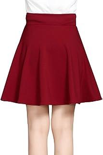 Señoras Una Línea Estirar Mini Falda Tranzrock Mini Falda Mode De Marca Plisada Con Pantalones De Seguridad Falda Alta Fiesta Casual Fiesta Discorock Color Negro Vino Rojo Eu 38 40 42 44 46