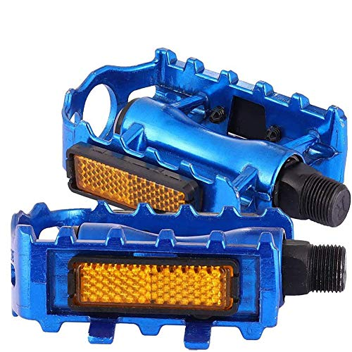 ruggito 1 Pair Bike Pedal Mountain Bicycles Pedals, Black Plastic Resin Bike Pedals Non-Slip Fit Most Adult Bikes Mountain Road(Blue)