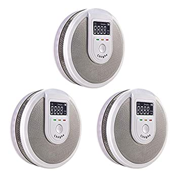 Combination Smoke & Carbon Monoxide Detector Alarm with LCD Display and Voice Warning Battery-Operated Auto-Check Smoke CO Dual Sensor Complies with UL 217 & UL 2034 Standards