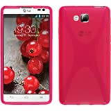 PhoneNatic Custodia Compatibile con LG Optimus L9 II Cover Rosa Caldo X-Style Optimus L9 II in Silicone + Pellicola Protettiva