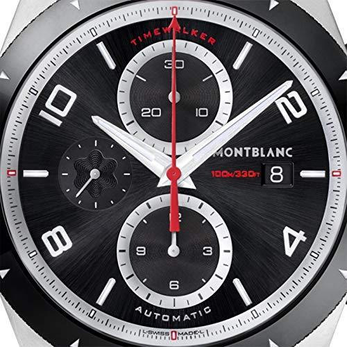 Montblanc TimeWalker Herren-Armbanduhr 43mm Armband Kautschuk Automatik 116096