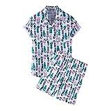 YHIIen Conjunto de ropa hawaiana para hombre...